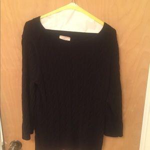 Black Loft Outlet cable knit sweater